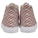WOVEN2 WHITE MARBLE & RUSTED METAL (R) Kid s Mid-Top Canvas Sneakers View4