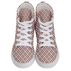 Woven2 White Marble & Rusted Metal (r) Men s Hi Top Skate Sneakers