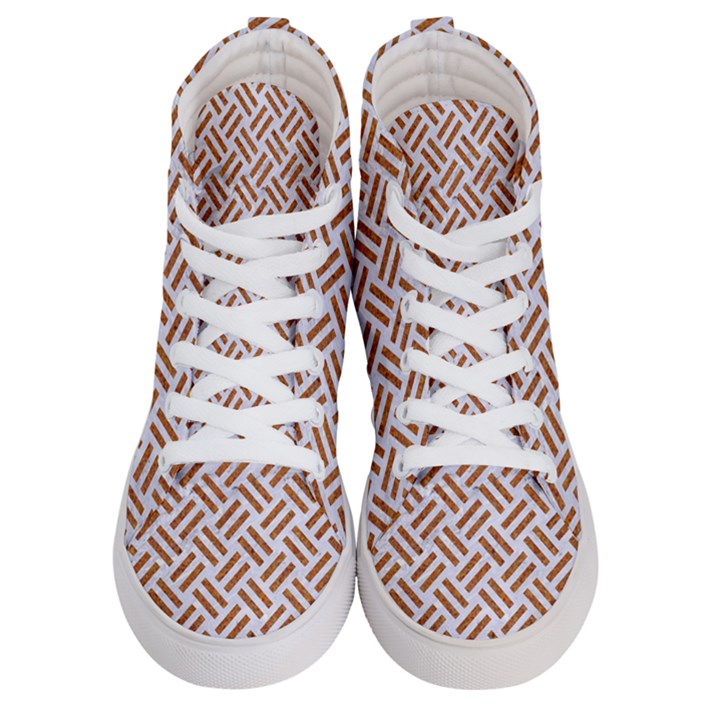 WOVEN2 WHITE MARBLE & RUSTED METAL (R) Men s Hi-Top Skate Sneakers