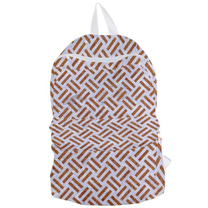WOVEN2 WHITE MARBLE & RUSTED METAL (R) Foldable Lightweight Backpack