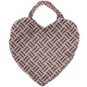 WOVEN2 WHITE MARBLE & RUSTED METAL (R) Giant Heart Shaped Tote View2