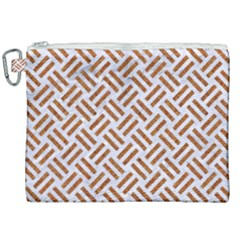 WOVEN2 WHITE MARBLE & RUSTED METAL (R) Canvas Cosmetic Bag (XXL)