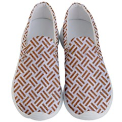 Woven2 White Marble & Rusted Metal (r) Men s Lightweight Slip Ons
