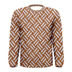 Woven2 White Marble & Rusted Metal Men s Long Sleeve Tee