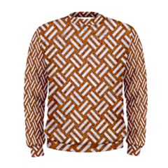 Woven2 White Marble & Rusted Metal Men s Sweatshirt