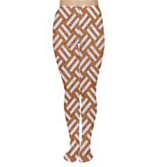 Woven2 White Marble & Rusted Metal Women s Tights