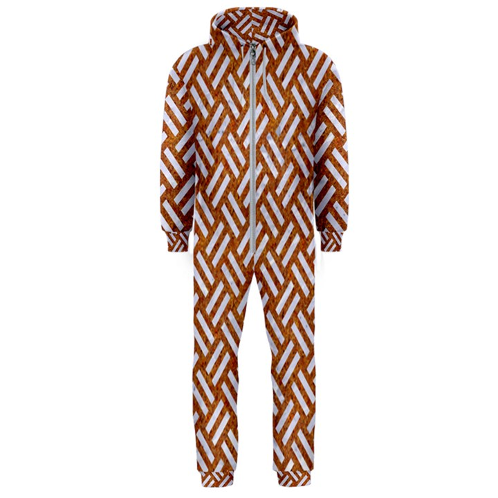 WOVEN2 WHITE MARBLE & RUSTED METAL Hooded Jumpsuit (Men)