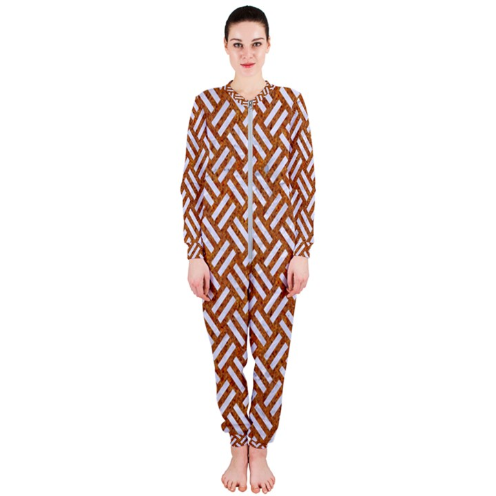 WOVEN2 WHITE MARBLE & RUSTED METAL OnePiece Jumpsuit (Ladies)
