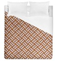 WOVEN2 WHITE MARBLE & RUSTED METAL Duvet Cover (Queen Size) View1