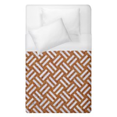 Woven2 White Marble & Rusted Metal Duvet Cover (single Size) by trendistuff