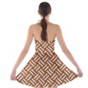 WOVEN2 WHITE MARBLE & RUSTED METAL Strapless Bra Top Dress View2