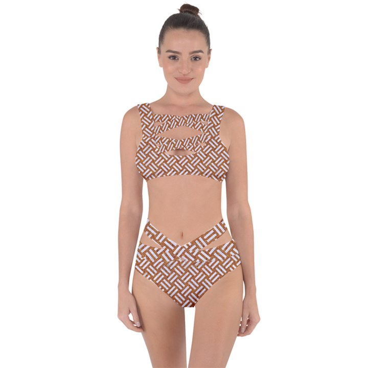 WOVEN2 WHITE MARBLE & RUSTED METAL Bandaged Up Bikini Set