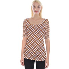 Woven2 White Marble & Rusted Metal Wide Neckline Tee