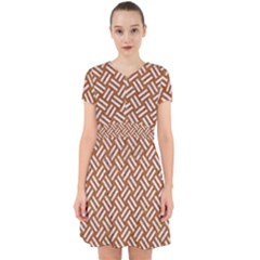 Woven2 White Marble & Rusted Metal Adorable In Chiffon Dress