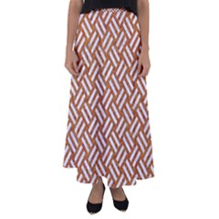 Woven2 White Marble & Rusted Metal Flared Maxi Skirt