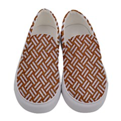 Woven2 White Marble & Rusted Metal Women s Canvas Slip Ons