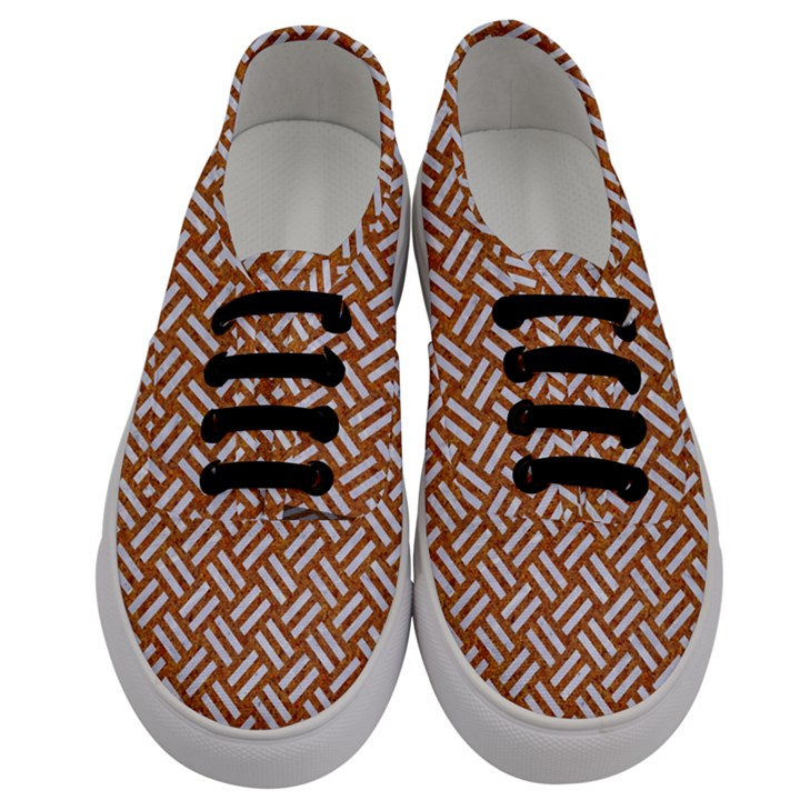 WOVEN2 WHITE MARBLE & RUSTED METAL Men s Classic Low Top Sneakers
