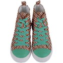 WOVEN2 WHITE MARBLE & RUSTED METAL Women s Mid-Top Canvas Sneakers View1