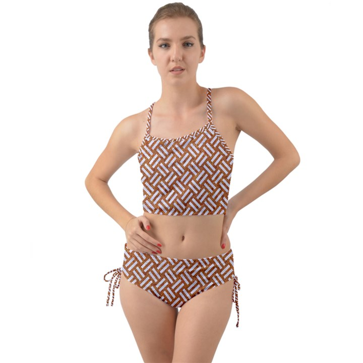 WOVEN2 WHITE MARBLE & RUSTED METAL Mini Tank Bikini Set