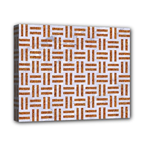 Woven1 White Marble & Rusted Metal (r) Canvas 10  X 8