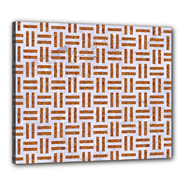 WOVEN1 WHITE MARBLE & RUSTED METAL (R) Canvas 24  x 20