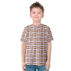 Woven1 White Marble & Rusted Metal (r) Kids  Cotton Tee