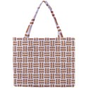WOVEN1 WHITE MARBLE & RUSTED METAL (R) Mini Tote Bag View1