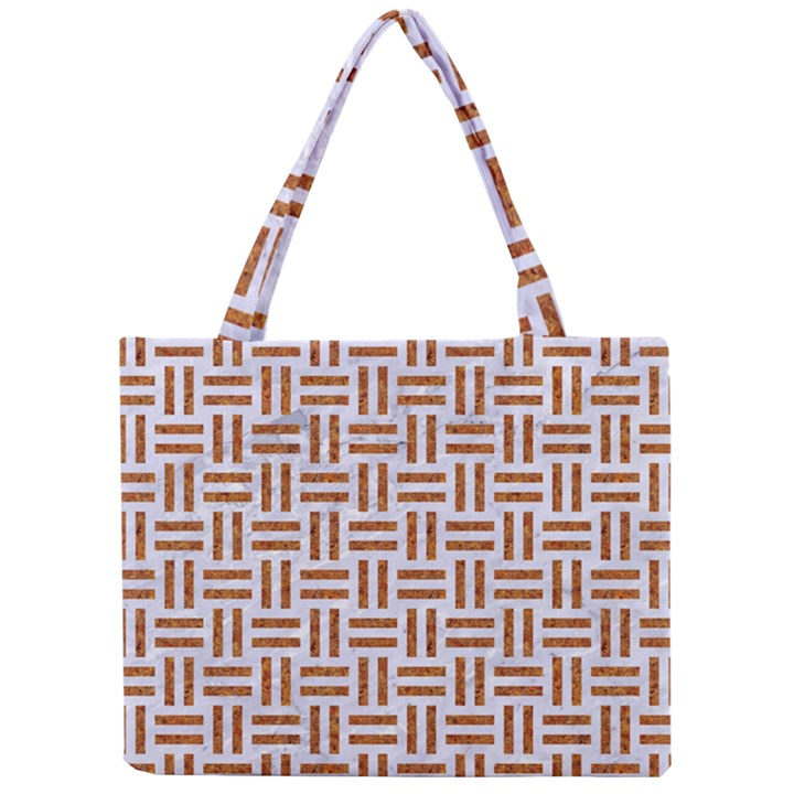 WOVEN1 WHITE MARBLE & RUSTED METAL (R) Mini Tote Bag
