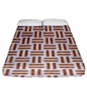 WOVEN1 WHITE MARBLE & RUSTED METAL (R) Fitted Sheet (King Size) View1
