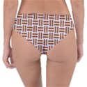 WOVEN1 WHITE MARBLE & RUSTED METAL (R) Reversible Classic Bikini Bottoms View2