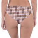 WOVEN1 WHITE MARBLE & RUSTED METAL (R) Reversible Classic Bikini Bottoms View4
