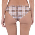 WOVEN1 WHITE MARBLE & RUSTED METAL (R) Reversible Hipster Bikini Bottoms View2