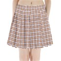 WOVEN1 WHITE MARBLE & RUSTED METAL (R) Pleated Mini Skirt View1