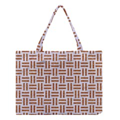 Woven1 White Marble & Rusted Metal (r) Medium Tote Bag