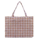WOVEN1 WHITE MARBLE & RUSTED METAL (R) Medium Tote Bag View1