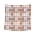 WOVEN1 WHITE MARBLE & RUSTED METAL (R) Square Tapestry (Small) View1