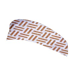 Woven1 White Marble & Rusted Metal (r) Stretchable Headband