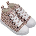 WOVEN1 WHITE MARBLE & RUSTED METAL (R) Kid s Mid-Top Canvas Sneakers View3