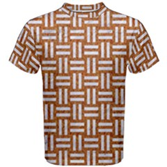 WOVEN1 WHITE MARBLE & RUSTED METAL Men s Cotton Tee