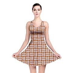 WOVEN1 WHITE MARBLE & RUSTED METAL Reversible Skater Dress