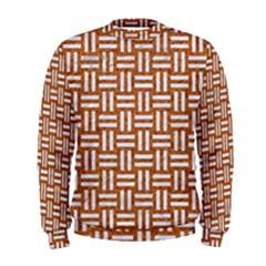WOVEN1 WHITE MARBLE & RUSTED METAL Men s Sweatshirt