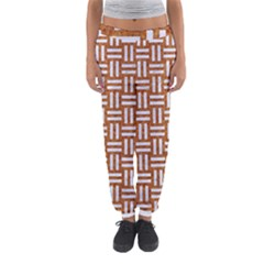 WOVEN1 WHITE MARBLE & RUSTED METAL Women s Jogger Sweatpants