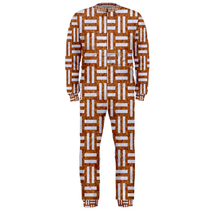 WOVEN1 WHITE MARBLE & RUSTED METAL OnePiece Jumpsuit (Men)