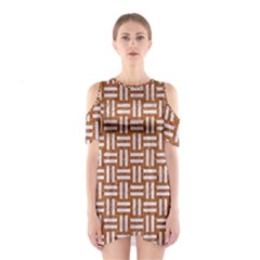 Woven1 White Marble & Rusted Metal Shoulder Cutout One Piece