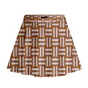 WOVEN1 WHITE MARBLE & RUSTED METAL Mini Flare Skirt View1