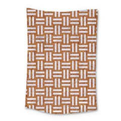 WOVEN1 WHITE MARBLE & RUSTED METAL Small Tapestry