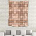 WOVEN1 WHITE MARBLE & RUSTED METAL Medium Tapestry View2