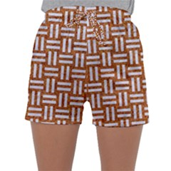 WOVEN1 WHITE MARBLE & RUSTED METAL Sleepwear Shorts