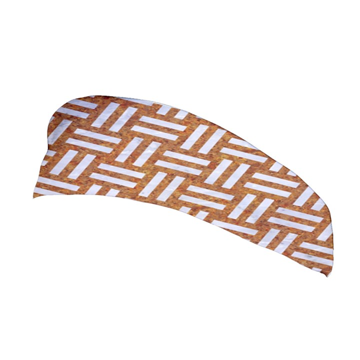 WOVEN1 WHITE MARBLE & RUSTED METAL Stretchable Headband