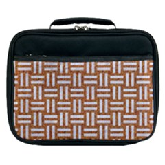 WOVEN1 WHITE MARBLE & RUSTED METAL Lunch Bag